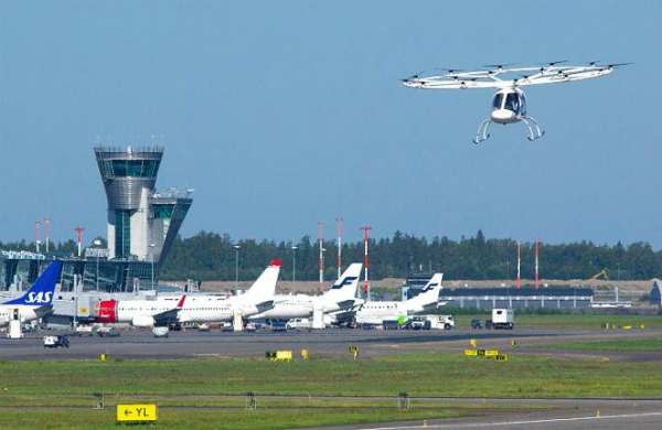 Volocopter испытала мультикоптер в аэропорту Хельсинки
